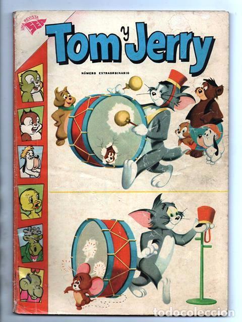 TOM Y JERRY NUMERO EXTRAORDINARIO NOVARO 1960 BALON Y BALIN BARNEY MOTITA FLIP MUY BUEN ESTADO 80 P (Tebeos y Comics - Novaro - Tom y Jerry)