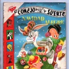 Tebeos: EL CONEJO DE LA SUERTE EXTRAORDINARIO 1957 NOVARO NAVIDAD FELIZ LUCAS PIOLIN PORKY MARY JUANA 96 P. Lote 94967999
