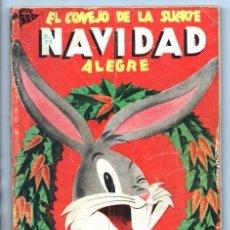 Tebeos: EL CONEJO DE LA SUERTE EXTRAORDINARIO NOVARO 1952 PORKY ELMER LUCAS TRES OSOS 112 PAG CON FALTANTES. Lote 95007407