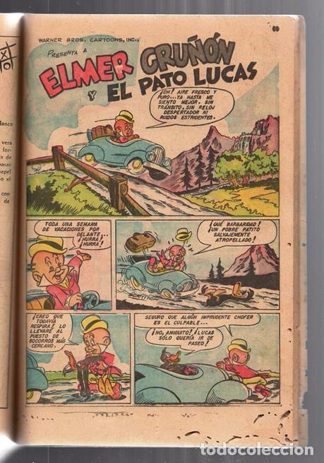 Tebeos: EL CONEJO DE LA SUERTE EXTRAORDINARIO NOVARO 1952 PORKY ELMER LUCAS TRES OSOS 112 PAG CON FALTANTES - Foto 8 - 95007407