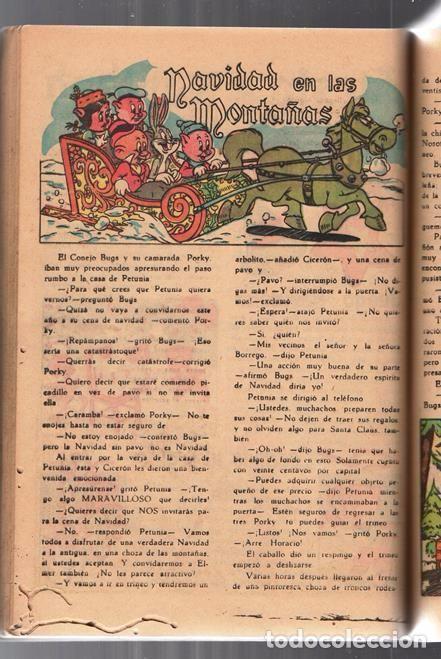 Tebeos: EL CONEJO DE LA SUERTE EXTRAORDINARIO NOVARO 1952 PORKY ELMER LUCAS TRES OSOS 112 PAG CON FALTANTES - Foto 9 - 95007407