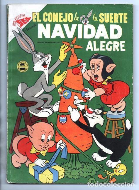 EL CONEJO DE LA SUERTE EXTRAORDINARIO NOVARO 1954 NAVIDAD LUCAS PIOLIN PORKY MARY JUANA 96 P EXCELEN (Tebeos y Comics - Novaro - El Conejo de la Suerte)
