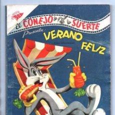 Tebeos: EL CONEJO DE LA SUERTE EXTRAORDINARIO NOVARO 1956 VERANO LUCAS PIOLIN PORKY MARY JUANA 96 P EXCELENT. Lote 95025455