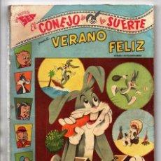 Tebeos: EL CONEJO DE LA SUERTE EXTRAORDINARIO 1958 NOVARO VERANO SAM LUCAS PIOLIN PORKY MARY JUANA SIFO 96 P. Lote 95060943