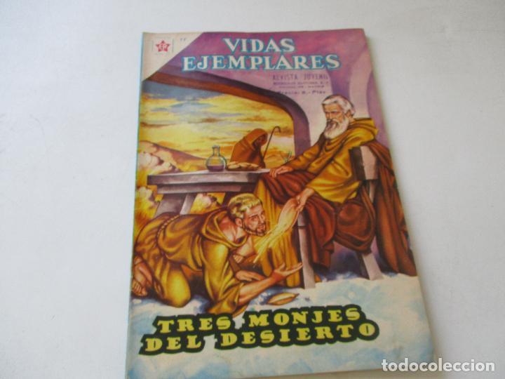 VIDAS EJEMPLARES Nº. 78-TRES MONJES DEL DESIERTO-1960 (Tebeos y Comics - Novaro - Vidas ejemplares)