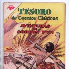 Tebeos: TESORO DE CUENTOS CLASICOS # 72 NOVARO 1963 EDGAR ALLAN POE AVENTURAS DE ARTHUR GORDON PYM EXCELENTE. Lote 96559135