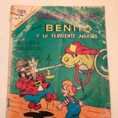 Tebeos: CHIQUILLADAS Nº 258. BENITO Y SU SERPIENTE MARINA. NOVARO 1969. Lote 97046107