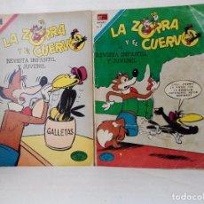 Tebeos: LOTE DE 2 EJEMPLARES DE EDITORIAL NOVARO.LA ZORRA Y EL CUERVO. Lote 97468495