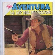 Tebeos: AVENTURA # 180 NOVARO 1961 LA LEY DEL REVOLVER MATEO DILLON DODGE CITY GUNSMOKE BUEN ESTADO. Lote 97649523