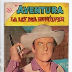Tebeos: AVENTURA # 310 NOVARO 1963 LA LEY DEL REVOLVER MATEO DILLON DODGE CITY GUNSMOKE BUEN ESTADO. Lote 97649611