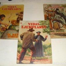 Tebeos: VIDAS EJEMPLARES - Nº 46- Nº 25 Y Nº 20 - AÑOS 1955- 1956 Y 1958 1ª EDICION -. Lote 97705199
