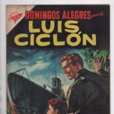 Tebeos: DOMINGOS ALEGRES # 128 NOVARO 1956 LUIS CICLON Ó STEVE CANYON MILTON CANIFF MUY BUEN ESTADO. Lote 97970191
