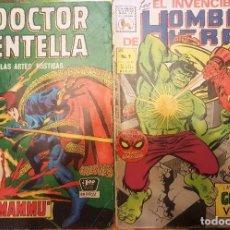 Tebeos: DOCTOR CENTELLA # 4 YO DORMAMMU & HOMBRE DE HIERRO # 9 IRON MAN LA MOLE LA PRENSA NOVARO BUEN ESTADO. Lote 98173899