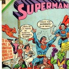 Tebeos: SUPERMAN NOVARO 1971 DEL Nº 822 AL 838 ENCUADERNADO BIBLIOTECA FRONTAL ABAJO. Lote 99299695