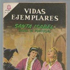 Tebeos: VIDAS EJEMPLARES 206: SANTA ISABEL, REINA DE PORTUGAL, 1965, NOVARO. Lote 100367051