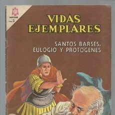 Tebeos: VIDAS EJEMPLARES 198: SANTOS BARSES, EULOGIO Y PROTÓGENES, 1965, NOVARO, BUEN ESTADO. Lote 100367243
