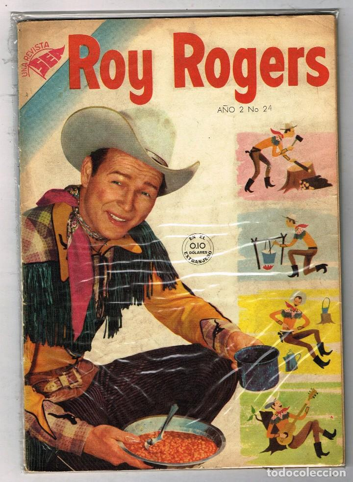 ROY ROGERS 24 1954 NOVARO COMIC (Tebeos y Comics - Novaro - Roy Roger)