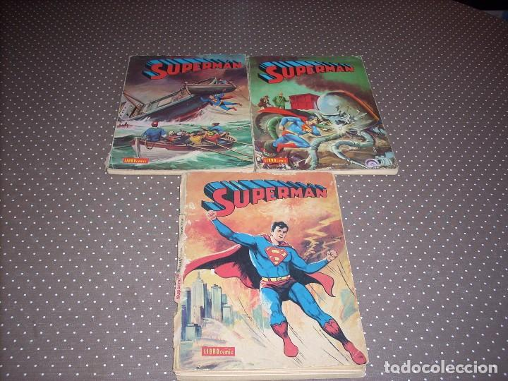 3 LIBRO COMIC SUPERMAN TOMOS XXIII-XII-XXVIII (Tebeos y Comics - Novaro - Otros)