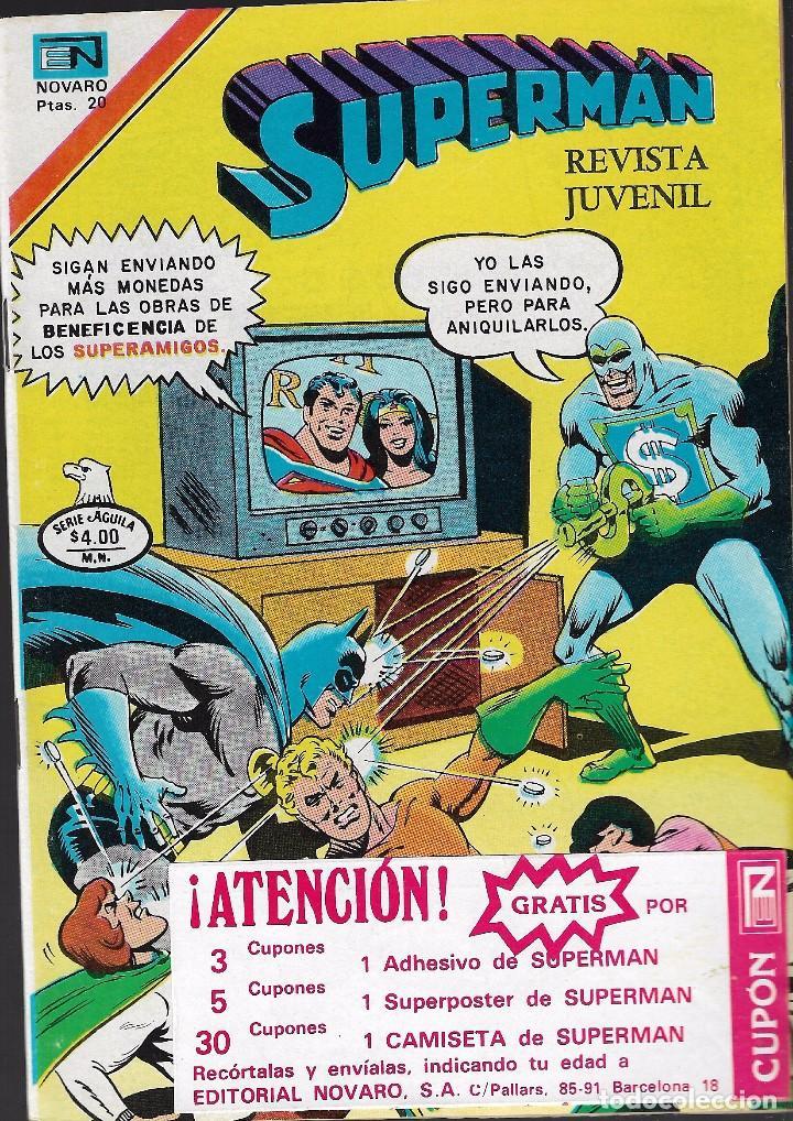 SUPERMAN - SERIE ÁGUILA - DIMENSIÓN DESCONOCIDA - AÑO XXVI - Nº 2.1193 - 25 ENERO 1979. (Tebeos y Comics - Novaro - Superman)