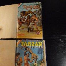 Tebeos: MAGNÍFICO LOTE DE TARZAN CON 35 EJEMPLARES ENCUADERNADOS EN 3 TOMOS EDITORIAL NOVARO . Lote 103857635