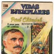 Tebeos: PAUL CLAUDEL VIDAS EJEMPLARES Nº 315 EDITORIAL NOVARO ORIGINAL AÑO 1970. Lote 104041215
