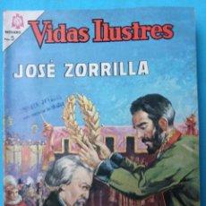 Tebeos: VIDAS ILUSTRES , JOSE ZORRILLA , Nº 128 , NOVARO , ORIGINAL . Lote 106385619