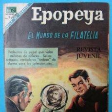BDs: EPOPEYA , EL MUNDO DE LA FILATELIA , Nº 126 , NOVARO , ORIGINAL. Lote 106401507