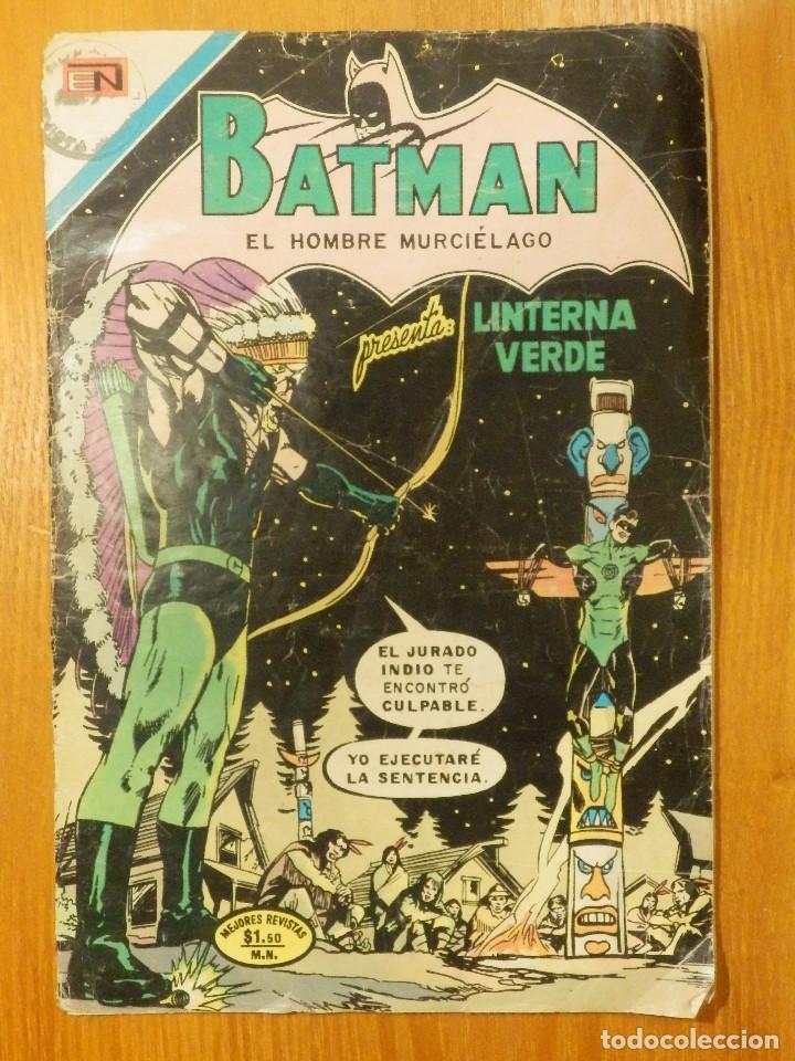 COMIC - BATMAN - LINTERNA VERDE - AÑO XX - Nº 614 - NOVARO - FALTAN PÁGINAS PARA RESTAURAR OTROS (Tebeos y Comics - Novaro - Batman)
