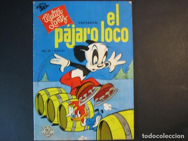 EL PAJARO LOCO Nº21 (1950, SEA / NOVARO) (Tebeos y Comics - Novaro - Otros)