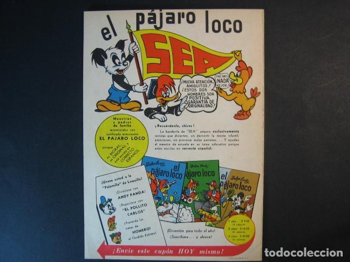Tebeos: EL PAJARO LOCO Nº24 (1950, SEA / NOVARO) - Foto 2 - 107551079