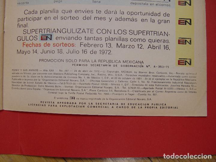 Tebeos: LOTE 2 COMICS: PORKY Y SUS AMIGOS (EDIT. NOVARO -MÉXICO-) 1972 ¡ORIGINALES! - Foto 6 - 107793663