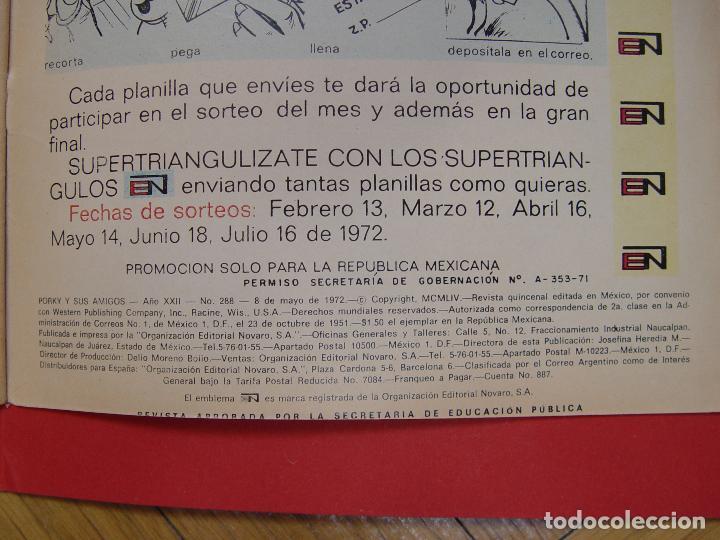 Tebeos: LOTE 2 COMICS: PORKY Y SUS AMIGOS (EDIT. NOVARO -MÉXICO-) 1972 ¡ORIGINALES! - Foto 10 - 107793663
