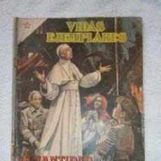 Tebeos: VIDAS EJEMPLARES N°48 - SU SANTIDAD PIO XII (PONTIFICE DE LA PAZ) - NOVARO ORIGINAL. Lote 213472752