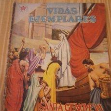 Tebeos: VIDAS EJEMPLARES N° 69 - SANTA GENOVEVA, PATRONA DE PARÍS - NOVARO ORIGINAL. Lote 109182719