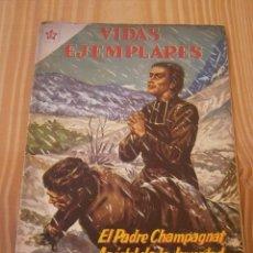 Tebeos: VIDAS EJEMPLARES N° 123 - EL PADRE CHAMPAGNAT, APÓSTOL DE LA JUVENTUD - NOVARO ORIGINAL. Lote 109183171