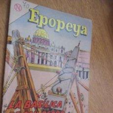 Tebeos: EPOPEYA N.70 LA BASILICA DE SAN PEDRO EDIT. NOVARO. Lote 109265515