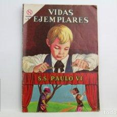 Tebeos: CÓMIC VIDAS EJEMPLARES - Nº 170, SU SANTIDAD PAULO VI - ED. NOVARO, AÑO 1964. Lote 109364788