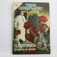Tebeos: CÓMIC VIDAS EJEMPLARES - Nº 45, EL PADRE DAMIÁN - ED. NOVARO, AÑO 1958. Lote 109364888