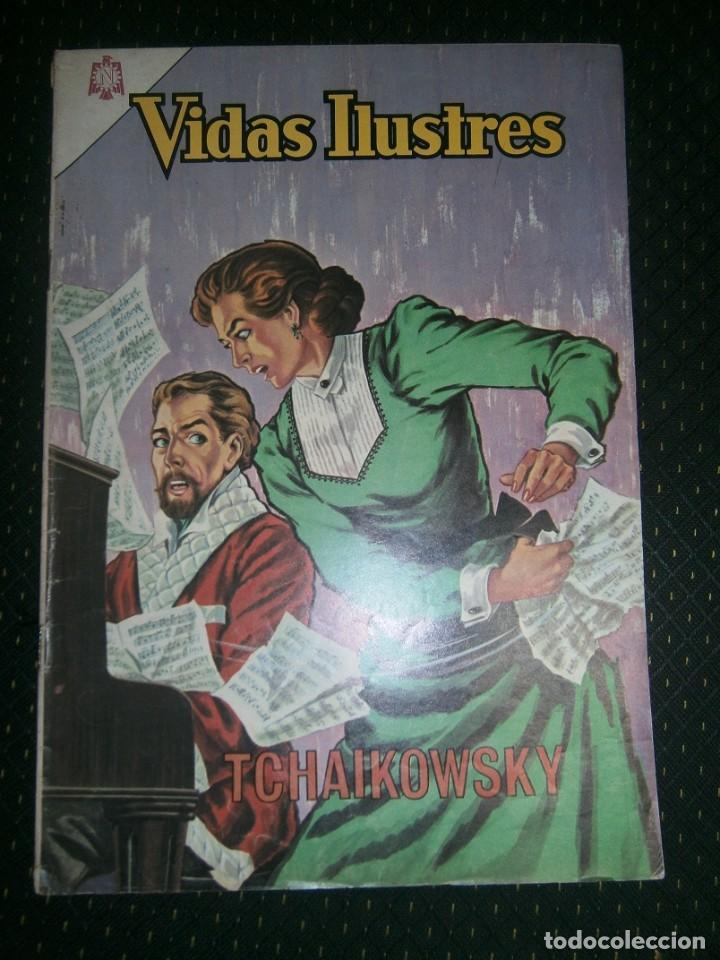 VIDAS ILUSTRES N° 109 - TCHAIKOWSKY - ORIGINAL EDITORIAL NOVARO (Tebeos y Comics - Novaro - Vidas ilustres)