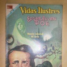 Tebeos: VIDAS ILUSTRES N° 195 - EDGAR ALLAN POE - ORIGINAL EDITORIAL NOVARO. Lote 109508863