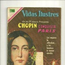 Tebeos: VIDAS ILUSTRES N° 232 - CHOPIN CONQUISTA PARÍS - ORIGINAL EDITORIAL NOVARO. Lote 109526731