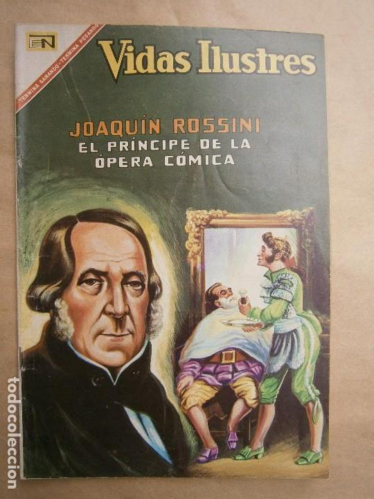 VIDAS ILUSTRES N° 168 - JOAQUÍN ROSSINI - ORIGINAL EDITORIAL NOVARO (Tebeos y Comics - Novaro - Vidas ilustres)