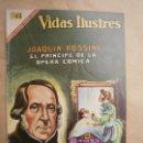 Tebeos: VIDAS ILUSTRES N° 168 - JOAQUÍN ROSSINI - ORIGINAL EDITORIAL NOVARO. Lote 109526907