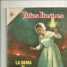 Tebeos: VIDAS ILUSTRES N° 29 - LA DAMA DE LA LINTERNA - ORIGINAL EDITORIAL NOVARO. Lote 109527295