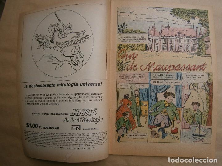 Tebeos: Vidas ilustres n° 197 - Guy de Maupasant - original editorial Novaro - Foto 2 - 109527675