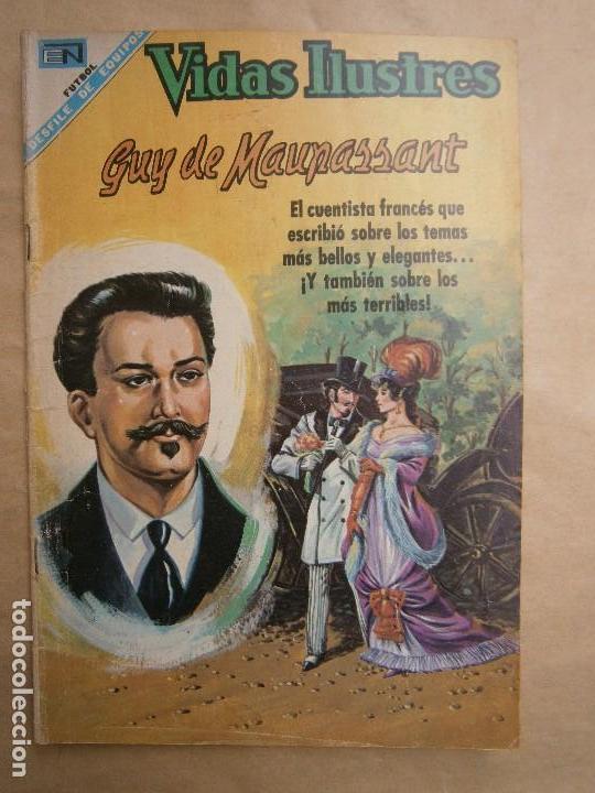 VIDAS ILUSTRES N° 197 - GUY DE MAUPASANT - ORIGINAL EDITORIAL NOVARO (Tebeos y Comics - Novaro - Vidas ilustres)