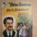 Tebeos: VIDAS ILUSTRES N° 197 - GUY DE MAUPASANT - ORIGINAL EDITORIAL NOVARO. Lote 109527675