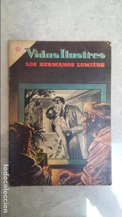 VIDAS ILUSTRES N° 6 - LOS HERMANOS LUMIERE - ORIGINAL EDITORIAL NOVARO (Tebeos y Comics - Novaro - Vidas ilustres)
