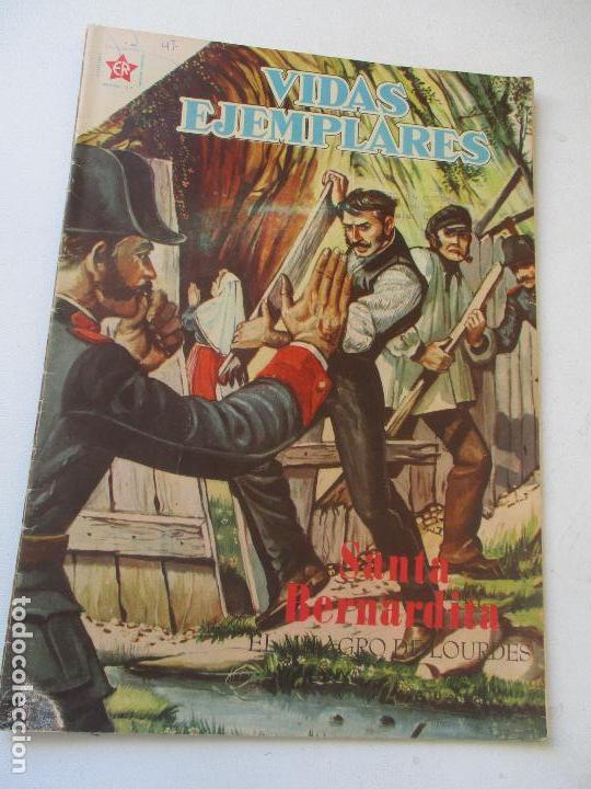 VIDAS EJEMPLARES Nº. 47 SANTA BERNARDITA, EL MILAGRO DE LOURDES-1958 (Tebeos y Comics - Novaro - Vidas ejemplares)