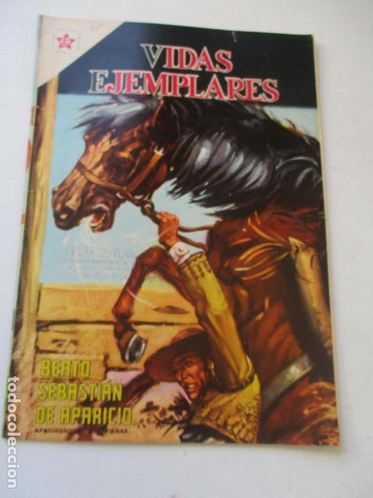 VIDAS EJEMPLARES Nº. 195 BEATO SEBASTIÁN DE APARICIO, APACIGUADOR DE FIERAS.-1961 (Tebeos y Comics - Novaro - Vidas ejemplares)